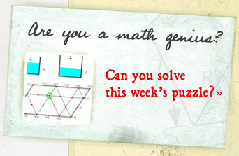 Season 5: Are You a math genius? Can you solve this weeks puzzle?