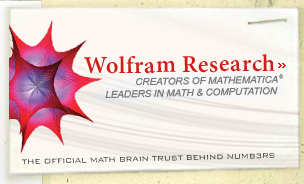 Wolfram Research: Creators of Mathematica, Leaders in Math & Computation--The official math brain trust behind NUMB3RS